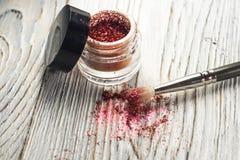 Het pigment, schittert, borstels Royalty-vrije Stock Foto
