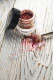Het pigment, schittert, borstels Stock Afbeeldingen