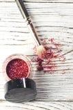 Het pigment, schittert, borstels Royalty-vrije Stock Fotografie