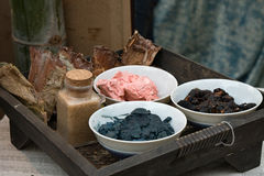 Het pigment van de indigokleurstof Stock Fotografie