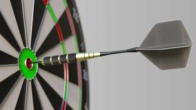 Het pijltje raakt bullseye van het doel De sporten of het politieke succes brachten het conceptuele 3D teruggeven met elkaar in v Stock Foto's