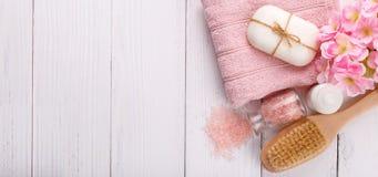 Het Pink spa plaatsen royalty-vrije stock fotografie
