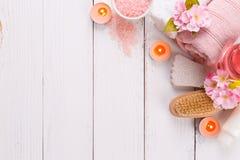 Het Pink spa plaatsen stock foto