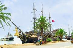 Het piraatgaljoen Stock Fotografie