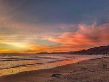 Het Pismostrand in zonsondergang, is mooi royalty-vrije stock foto's