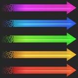 Het pixel van de kleurenpijl Royalty-vrije Stock Foto