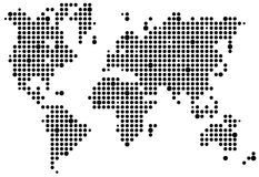 Het pixelkaart van de wereld Royalty-vrije Stock Afbeelding