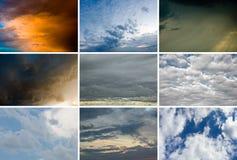 Het plaatsen van Cloudscape stock afbeelding