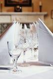 Het Plaatsen van de eettafel stock fotografie