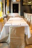Het Plaatsen van de Lijst van het restaurant stock fotografie