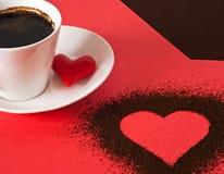 Het plaatsen van de valentijnskaart `s stock fotografie