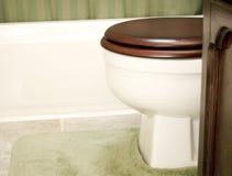 Het plaatsen van het Toilet van de badkamers Royalty-vrije Stock Afbeelding