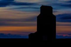 Het plaatsen van Zon in East-Central Montana Royalty-vrije Stock Foto
