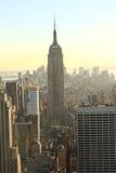 Het plaatsen van zon Manhattan Royalty-vrije Stock Afbeelding