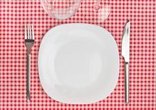 Het plaatsen voor diner royalty-vrije stock foto