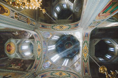 Het plafond van de kerk Stock Afbeelding