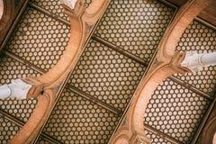 Het plafond van de zaal Plaza DE Espana verfraaide met mooi Stock Foto