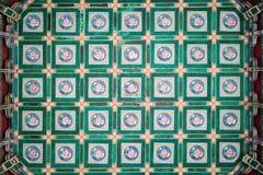 Het Plafond van een Chinese Tempel Royalty-vrije Stock Afbeeldingen