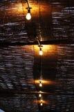 Het plafond van het bamboe Stock Foto's