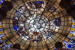 Het plafond van het Erawanmuseum Stock Foto's