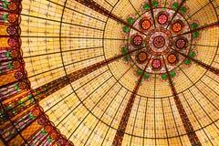 Het Plafond van het gebrandschilderd glas Stock Afbeeldingen