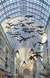 Het plafond van het glas in Eaton Centrum, Toronto Stock Foto's