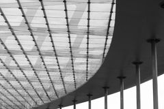 Het plafond van het glas en van het staal Royalty-vrije Stock Foto's