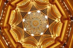 Het plafond van het Paleis van emiraten stock afbeeldingen