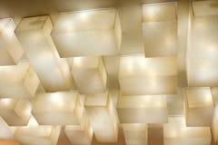 Het plafond van lampen stock foto