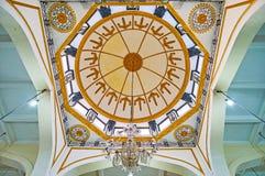 Het plafond van Mogolmoskee, Yangon, Myanmar Stock Afbeeldingen