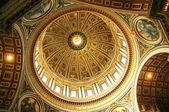 Het plafond van Rome Heilige Peter Stock Afbeelding