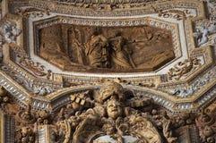 Het Plafond van Vatikaan binnen Beeldhouwwerk Rome Ital royalty-vrije stock foto's