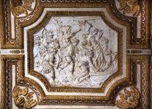 Het Plafond van Vatikaan binnen de Christelijke Martelaren van het Beeldhouwwerk royalty-vrije stock fotografie