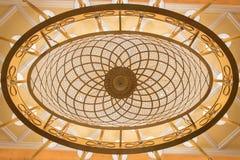 Het plafondlampen van de kristalkroonluchter - ellips Stock Afbeelding