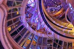 Het Plafondrotonde van het cruiseschip Stock Foto