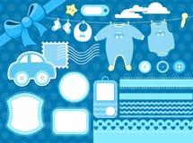 Het plakboekelementen van de baby vector illustratie