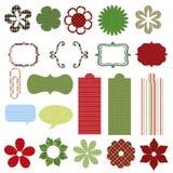 Het plakboekelementen van Kerstmis Royalty-vrije Stock Foto