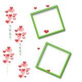 Het plakboekframe van de valentijnskaart Royalty-vrije Stock Fotografie