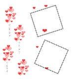 Het plakboekframe van de valentijnskaart Stock Foto's