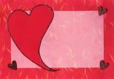 Het plakboekkaart van de valentijnskaart Stock Afbeeldingen