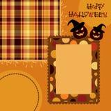 Het plakboekpagina van Halloween Stock Afbeeldingen