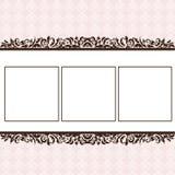 Het plakboekpagina van het Meisje van de baby - de Aankondiging van de Geboorte - 1 Royalty-vrije Stock Fotografie