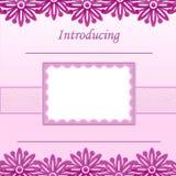 Het plakboekpagina van het Meisje van de baby - de Aankondiging van de Geboorte - 1 royalty-vrije stock afbeeldingen