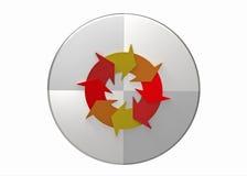 Het plan controleert handelingscirkel vector illustratie