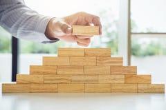 Het plan en de strategie in zaken, riskeren om de Bedrijfsgroei Conc te maken royalty-vrije stock foto