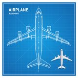 Het Plan Hoogste Mening van de vliegtuigblauwdruk Vector Royalty-vrije Stock Foto