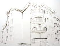 Het plan van Architecural Stock Afbeelding