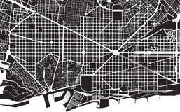 Het plan van Barcelona Royalty-vrije Stock Foto