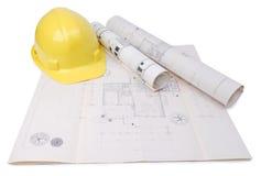 Het plan van de architect Royalty-vrije Stock Foto