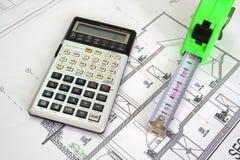 Het plan van de architectuur Royalty-vrije Stock Afbeelding